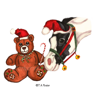 Christmas Teddy Bear and Horse