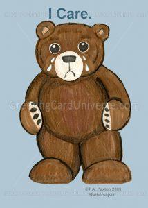 I Care Teddy Bear