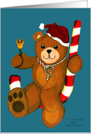 Teddy Bear on a Candy Cane