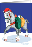Santa Horse Gift Carrying Clydesdale