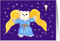 Teddy Bear Angel Holy Night