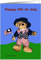 Happy 4th Patriotic Bear
