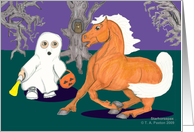Spooked Horse and Trick or Treater
