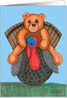 Teddy Bear riding a Turkey
