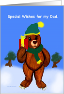Bear Holiday Wishes Dad