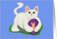 Cat with Easter Egg