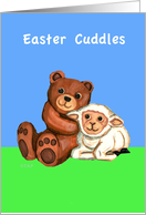 Easter Cuddles Bear and lamb