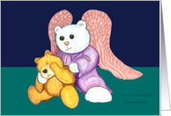 sympathies angel bear and sad teddy