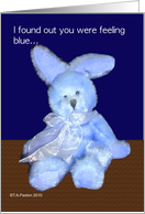 Get Well Blue Bunny