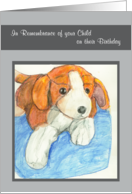 watercolor plugh beagle rememberence of child