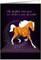 Daughter, Sense of Wonder Palomino Horse