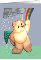 Teddy Bear and Rainbow