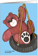 Teddy Bear on Tire swing