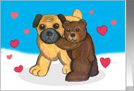 Pug and teddy