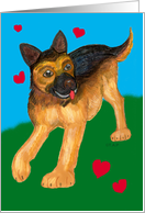 German Shepherd love Valentine