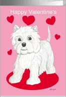 Westie Valentine dog