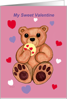 sweet valentine bear