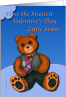 Valentine Little Sister with formal wear bear