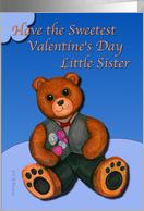 Valentine Little Sister with formal wear bear