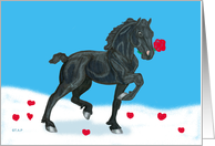 Horse with Rose Valentine