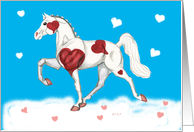 pinto hearts saddlebred horse valentine for farrier